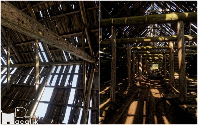 Na zdjęciu zrujnowana stodoła gdzieś na szlaku