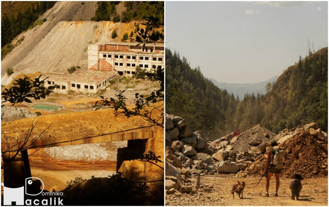 Powrót do misteczka przez nieczynną kopalnię i czynny kamieniołom